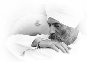 Yogi Bhajan in meditation